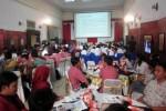 Seratusan pelajar dan mahasiswa mengikuti sosialisasi bahaya narkoba yang digelar BNN bekerja sama dengan Kemenkominfo dan Pemkot Solo di Monumen Pers Solo, Sabtu (30/8/2014). (Tri Rahayu/JIBI/Solopos)