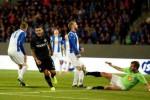 Pemain Inter Milan sukses menceploskan bola ke gawang Stjarnan. Ist/detiksport
