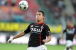 Pemain Feyenord Mitchell Te Vrede menciptakan gol ke gawang Zorya Luhansk. Ist/fr12.nl
