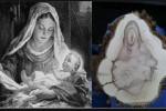 Foto Potongan Kayu Mirip Bunda Maria Gendong Yesus (huffingtonpost)