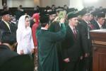 Anggota dewan terpilih mengucapkan sumpah dan janji dalam acara pelantikan anggota DPRD Provinsi DI. Yogyakarta (JIBI/Harian Jogja/Desi Suryanto )