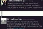 Tifatul Sembiring vs Bryan Barcelona soal rencana penutupan Twitter (1cak.com)