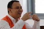 Didik Agung Hermawan, 44, yang didakwa aparat penegak hukum telah membobol Bank Internasional Indonesia (BII) memberikan keterangan kepada hakim saat sidang lanjutan di Pengadilan Negeri Solo, Kamis (18/9/2014). Didik yang merupakan warga Mojosongo, Jebres, Solo itu mentransfer uang dari ATM BII hingga Rp21 miliar karena sistem bank itu rusak. (Septian Ade Mahendra/JIBI/Solopos)