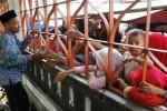 FOTO HAJI 2014 : Pengantar Calon Haji di Balik Pagar