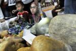 Pengunjung memilih batuan mulia yang diperjualbelikan dalam Pameran Batu Mulia di Mangga Dua Square, Jakarta, Jumat (19/9/2014). Pameran yang berlangsung hingga 21 September 2014 tersebut menyedot perhatian penghobi batu mulia. (JIBI/Solopos/Antara/Puspa Perwitasari)