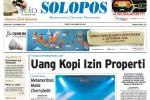 Halaman Depan Harian Umum Solopos edisi Senin, 1 September 2014