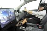 General Manager Corporate Planning and Public Relations PT Toyota Astra Motor (TAM) Widyawati memperagakan cara penggunaan simulator mobil Toyota Agya pada pameran Indonesia International Motor Show 2014, di JI Expo, Kemayoran, Jakarta, Jumat (11/9/2014). Pameran yang menampilkan 36 pabrikan otomotif dan berlangsung hingga 28 September 2014 ini diprediksi akan menghasilkan nilai transaksi yang lebih besar dibandingkan event serupa tahun 2013 lalu yang mencapai Rp 4,93 triliun. (JIBI/Solopos/Antara/Audy Alwi)
