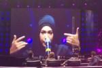Indah Nevertari saat tampil di Rising Star Indonesia (twitter)