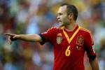 Play maker Timnas Spanyol Andres Iniesta dikabarkan cedera lutut. Ist/Dok