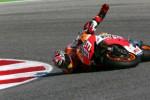 Marc Marquez terjatuh dalam sebuah balapan. Ist/crash.net