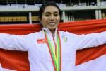 Atlet lompat jauh Indonesia Maria Natalia Londa medali emas, asian games 2014. Ist/rmol.com