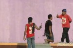 Potongan gambar dari rekaman video bertajuk Suporter Persis Solo ricuh di Stadion Galuh PSGC Ciamis (Youtube/Ciung Tips)