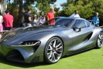 Toyota FT-1 abu-abu debut di Pebble Beach Concours D'Elegance California (autonationdrive.com)