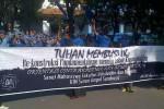 Tulisan 'Tuhan Membusuk' di Spanduk Ospek UIN Sunan Ampel Surabaya (twitter)