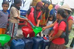 Droping air bersih di Dusun Jatisari, Padukuhan Nawung, Desa Gayamharjo, Kecamatan Prambanan, SLeman. (Rima Sekarani/JIBI/Harian Jogja)