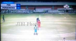 PSS Sleman saat menjamu Persewangi di Stadion Maguwoharjo Sleman, Selasa (2/9/2014) malam (JIBI/Harian Jogja/EljaTV)