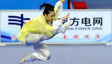 Atlet Wushu putri Indonesia Lindswel (JIBI/Harian Jogja/Antara)