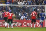Laga antara Liecester melawan Manchester United. MU kalah dengan skor 5-3. Ist/ Rtr/Dok