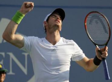 Reaksi Andy Murray seusai mengalahkan Jo-Wilfried Tsonga di U.S. Open. JIBI/Rtr/Ray Stubblebine