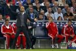 Reaksi manager Bayern Munich Pep Guardiola saat memberi instruksi anak buahnya. JIBI/Rtr/Ina Fassben