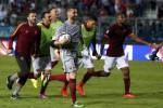Pemain AS Roma merayakan kemenangan mereka atas Empoli. JIBI/Rtr/Alessandro Bianchi