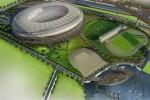 Ini dia maket Stadion Taman BMW, Sunter, Jakarta Utara yang akan dibangun Desember tahun ini. Stadion ini akan menjadi ajang pembukaan dan penutupan Asian Games 2018. Ist/Dokumentasi