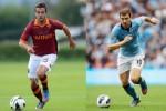 Pemain Roma Pjanic dan pemain Manchester City Dzeko. Ist/topmercato.com