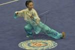 Atlet wushu Indonesia Lindswell Kwok menyabet perak di ajang Asian Games. JIBI/Antara