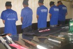 Sejumlah pelaku pengeroyokan dan pembacokan di Kecamatan Kasihan ditahan di Polres Bantul Minggu (19/10/2014) beserta sejumlah barang bukti. (JIBI/Harian Jogja/Bhekti Suryani)