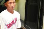Harso Taruno harus menjalani penahanan di Mapolres Gunungkidul atas dugaan pencurian kayu miliki Negara. Selasa (21/10/2014). (JIBI/Harian Jogja/David Kurniawan)
