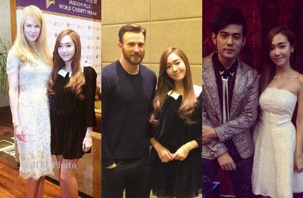 Wow, jessica foto bareng artis-artis hollywood