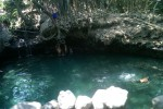 Sejumlah pengunjung tengah berenang di area Cekungan sungai Tepus, Dusun Ndalem, Desa Widodomartani, Ngemplak, Sleman pekan lalu. Cekungan itu kini menjelma menjadi wisata baru. (JIBI/Harian Jogja/Sunartono)