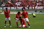 Para pemain Persis Solo berselebrasi dalam sebuah laga di Manahan. JIBI/Solopos/Dok