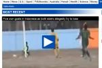 Pemberitaan mengenai sepak bola gajah PSS vs PSIS dari situs Daily Mail (JIBI/Harian Jogja/Screenshoot)