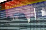 Daftar nilai yang ditampilkan seusai ujian calon pegawai negeri sipil (CPNS) di Graha Soloraya, Kantor Badan Koordinasi Wilayah Pemerintahan dan Pembangunan (Bakorwil) II Jawa Tengah, Gladak, Solo, Kamis (23/10). Dalam ujian yang menggunakan metode computer assisted test (CAT) tersebut Putri Presiden Joko Widodo, Kahiyang Ayu mendapat nilai 300 poin. (Ardiansyah Indra Kumala/JIBI/Solopos)