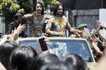 FOTO MAHABHARATA DI INDONESIA : Aktor Mahabharata Diarak di Denpasar
