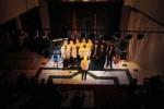 Paduan Suara Mahasiswa (PSM) Voca Al Kindi Universitas Muhammadiyah Surakarta (UMS) membawakan puisi berjudul Sebuah Jaket Berlumur Darah karya Taufiq Ismail saat digelar pementasan Musikalisasi Puisi oleh Teater Wejang di Kampus UMS, Pabelan, Kartasura, Sukoharjo, Selasa (21/11/2014) malam. Pementasan musikalisasi puisi tersebut merupakan salah satu upaya membangkitkan kembali gairah berpuisi di kalangan mahasiswa. (Septian Ade Mahendra/JIBI/Solopos)