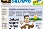 Halaman Depan Harian Umum Solopos edisi Rabu, 15 Oktober 2014