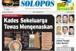 Halaman Depan Harian Umum Solopos edisi Rabu, 22 Oktober 2014