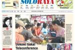 Halaman Soloraya Harian Umum Solopos edisi Senin, 20 Oktober 2014