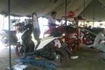 Kegiatan service gratis kendaraan bermotor di Lapangan Denhanud 474 Paskhas, Rabu (22/10/2014). (Sunartono/JIBI/Harian Jogja)