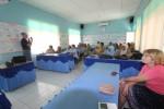 Para pembicara Pelatihan IVA dan Kolposkopi menyampaikan materi kepada 25 dokter Puskesmas di seluruh Kulonprogo di Aula Puskesmas Galur II, Senin (13/10/2014). (Foto Dokumen)