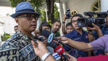 Mantan Deputi Kepala Kantor Transisi Jokowi - JK, Andi Widjajanto. (JIBI/Solopos/Antara/Widodo S. Jusuf)