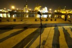 Suasana panggung yang dipersiapkan untuk acara pengumuman kabinet Presiden Joko Widodo dan Wapres Jusuf Kalla di Pelabuhan Tanjung Priok, Jakarta Utara, Rabu (22/10/2014) malam. Pengumuman menteri kabinet Joko Widodo-Jusuf Kalla batal dilaksanakan Rabu malam sesuai jadwal. (JIBI/Solopos/Antara/Andika Wahyu)