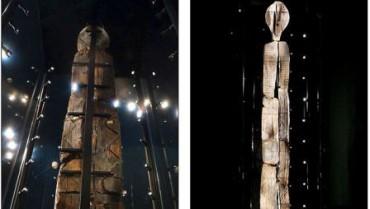 Patung tertua di dunia Shigir Idol (Dailymail.co.uk)