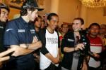 Valentino Rossi dan Jorge Lorenzo saat berkunjung ke Indonesia ditemui Jokowi. Ist/Dok/ilustrasi