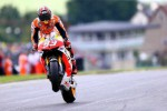 Pembalap Honda Marc Marques berselebrasi seusai memenangi balapan. Ist/Dokumen
