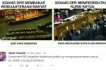 Netizen Protes DPR (twitter)