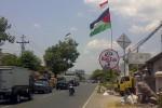 Bendera Palestina yang terpasang di Jalan Wonosari, Bantul. (Endro Guntoro/JIBI/Harian Jogja)