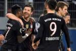 Para pemain Bayern Munchen merayakan gol kemenangan atas Hamburk di Piala DFB. JIBI/Rtr/Febian Bimme